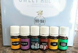 Young Living Sweet Aroma Diffuser & 6 Essential Oils Thieves Grounding Peace Lem