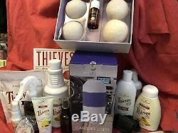 Young Living Thieves Super Bundle w travel Diffuser, book+ Items 240.00 retail