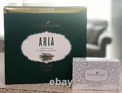 Young Living White Aria Diffuser 10mL Promotional Kit Lavender Peppermint Tea Tr