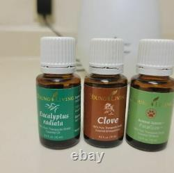 Young Living diffuser and oils (lot of 17 oils)